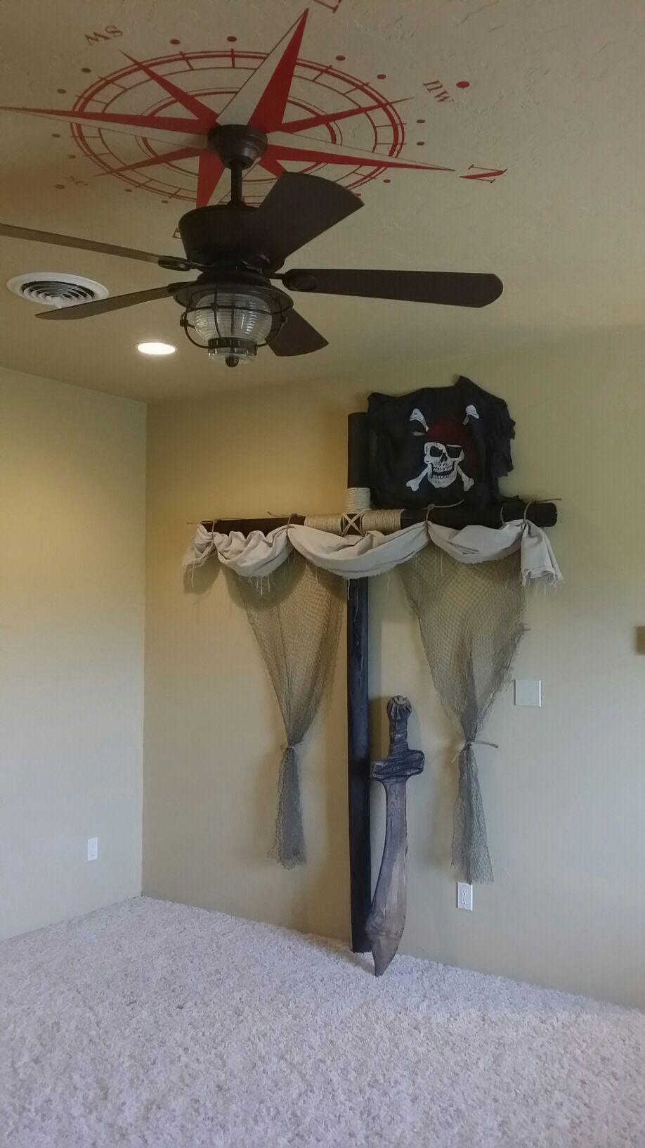 Another view of my Grandson's pirate-themed Nursery.