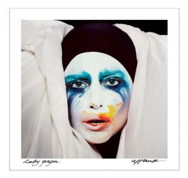 Lady Gaga Looks like an Arty Clown for New Single Cover