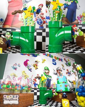 Blog Super Mario Themed Birthday Party Party Supplies and