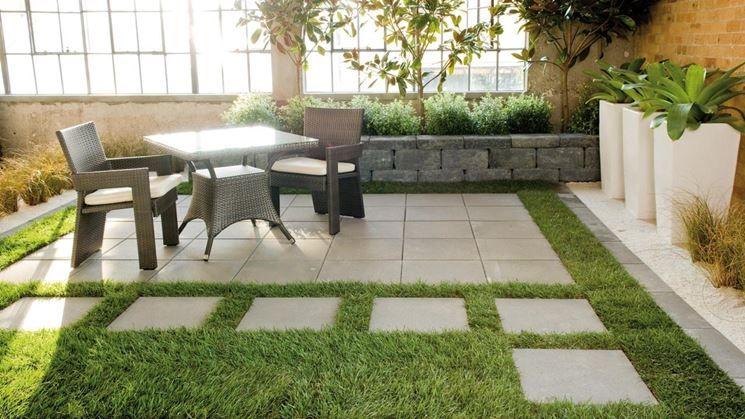 Pavimentazione per esterno portico anteriore pinterest - Pavimentazione cortile esterno ...