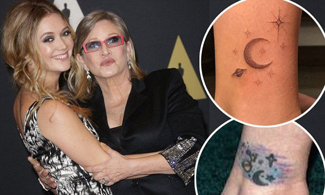 Billie Lourd gets ankle tattoo matching Carrie Fisher's | Carrie fisher, Ankle tattoo, Tattoos