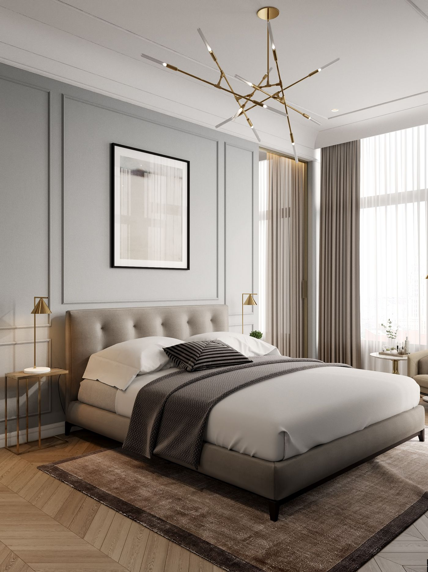 Modern classics in the interior on Behance Bedroom