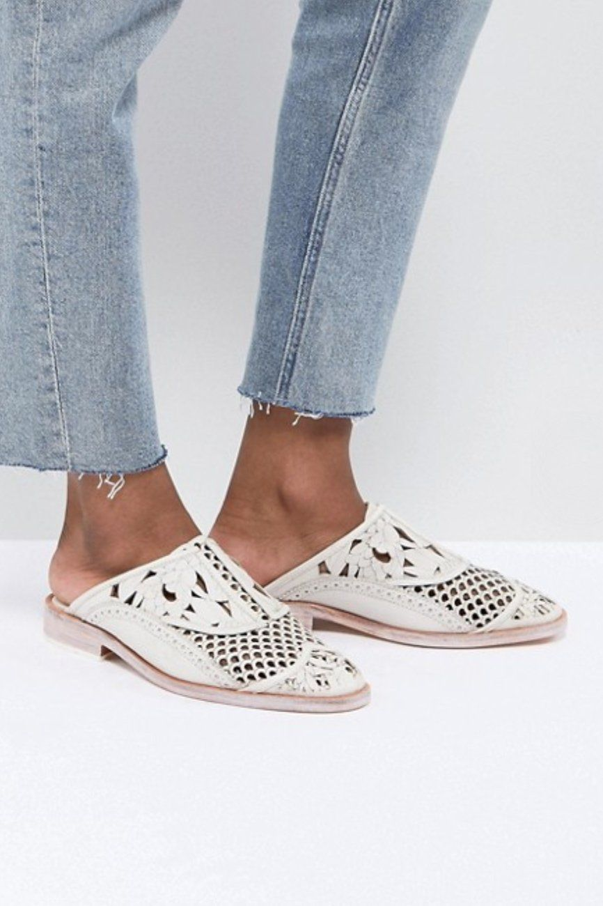 2c664aa9801 Free People Paramount Slip On Loafer in White