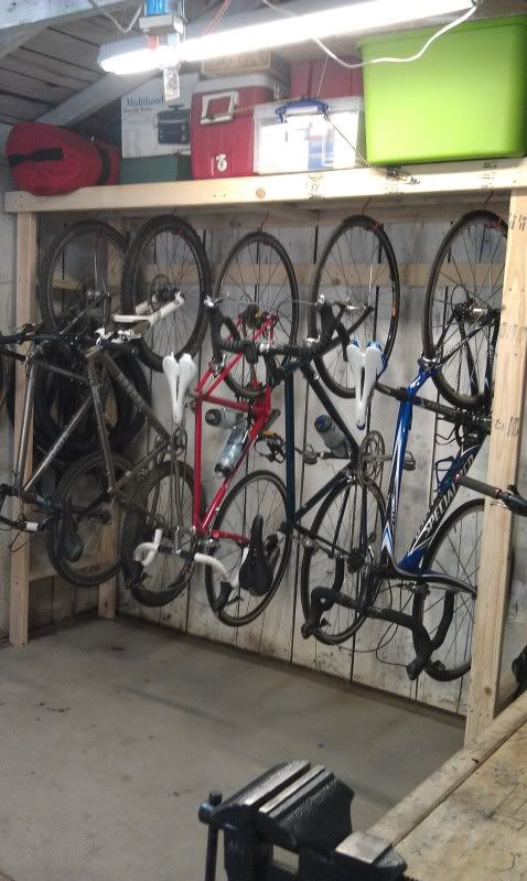 Home Brewed Bike Storage Solutions Help Wanted Mtbr Com Storage