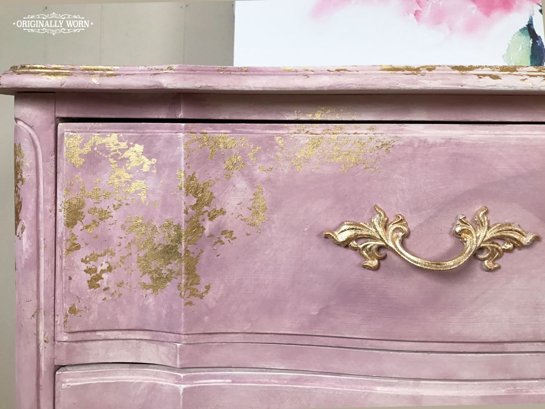 Annie Sloan Gold Size And Chalk Paint Was Used In This Inspired Watercolor Gilding Furniture Technique By Stockist Originally Worn Macon
