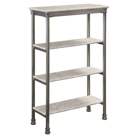 Four-tier shelf with marble laminate tops. Product ShelfConstruction Material Metal and  sc 1 st  Pinterest & Four-tier shelf with marble laminate tops. Product ...