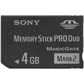 Capacity: 4 GB                                                        The compact MSMT4G Memory Stick PRO Duo Mark 2 media card is the perfect solution for storing and transferring high resolution video and still photos recorded on compatible Handycam camcorders and Cyber-shot digital cameras. Designed for high speed and stellar storage capacity, this reliable media is just what you need for storing your memories and transferring them with ease.