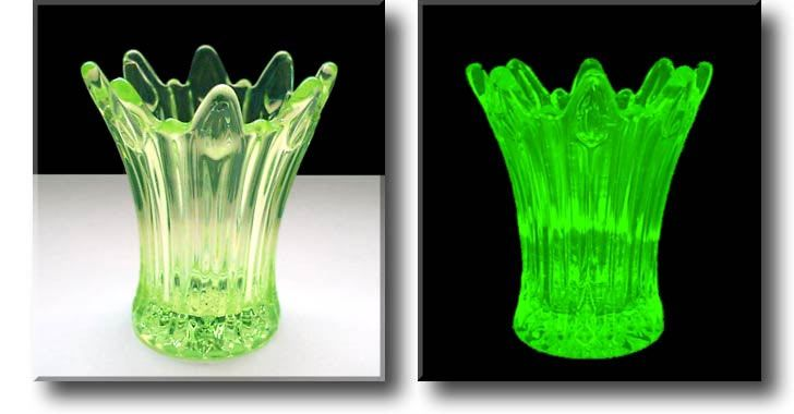Vaseline Glass Glows Under A Black Light Antiques And Stuff