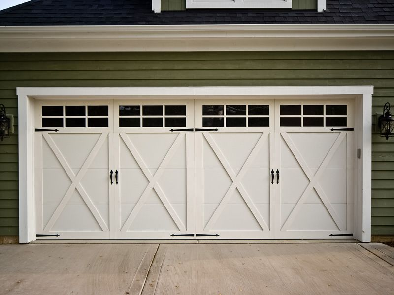 Big Garage Reliability Door Design Green Wall Plank Home