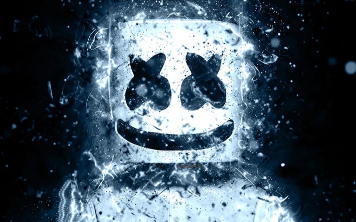 Download Wallpapers 4k Marshmello Abstract Art Dj Christopher Comstock Fan Art Neon Lights Superstars Dj Marshmello Creative Besthqwallpapers Com Iphone Wallpaper Hipster Android Wallpaper Iphone Wallpaper Fall