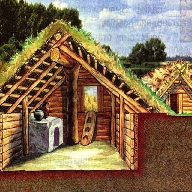 View Inside An Ancient Russian Home During The 10th