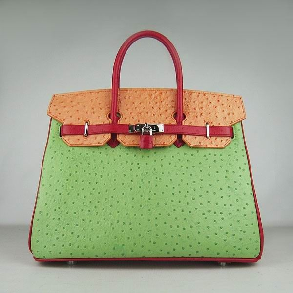 cd4f4cb9e7 ... where can i buy hermes birkin ostrich vein handbags 6099 red orange  green s ae38a 49760