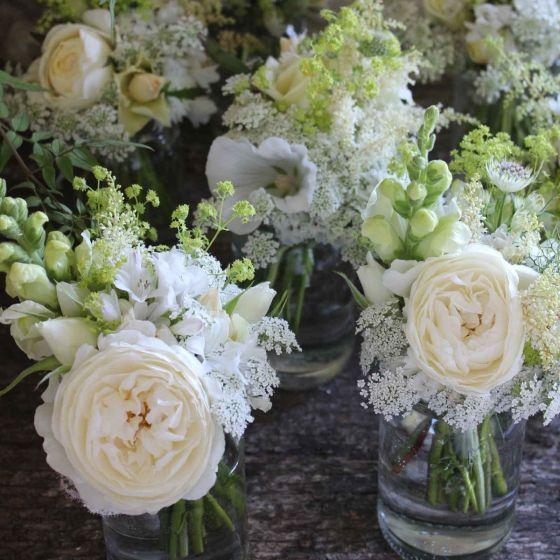 Wedding flowers jam jar posies from common farm flowers white wedding flowers jam jar posies from common farm flowers white wedding mightylinksfo Gallery