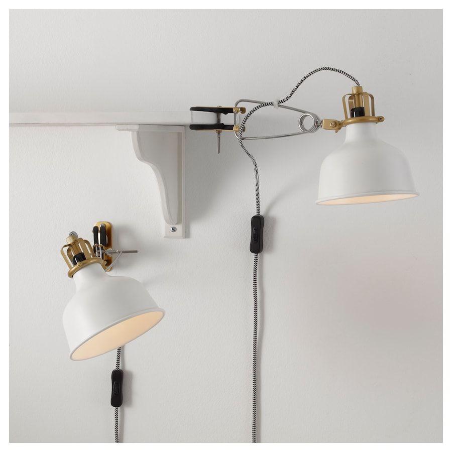 RANARP Wallclamp spotlight, off white IKEA | Ikea ranarp