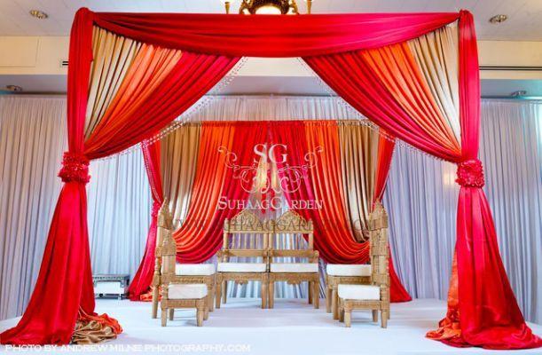 Fabric Mandaps Drapery Styles Wedding Decor Elegant