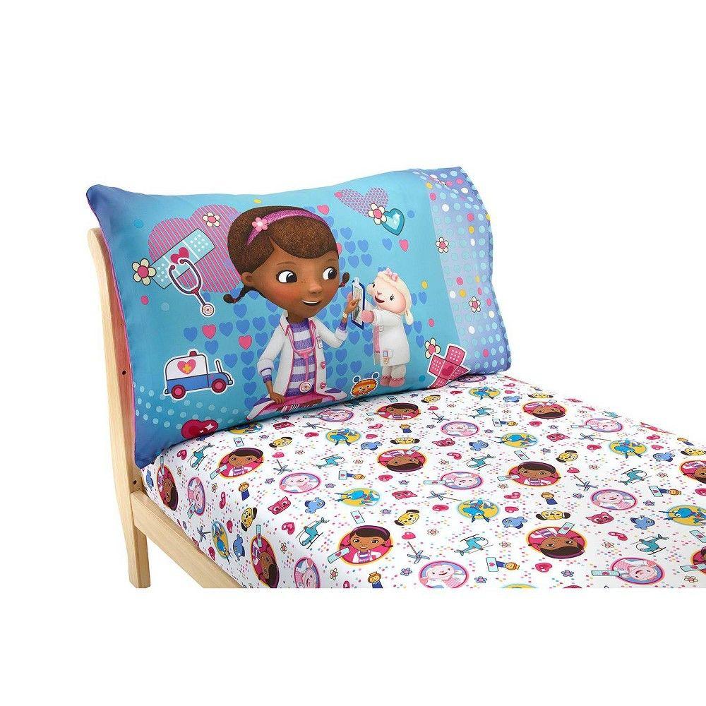 Doc Mcstuffins 2pc Toddler Sheet Set Adult Unisex Toddler Sheet