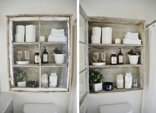 7 New Ways To Use Old Windows Bathroom Vanity Decor Light