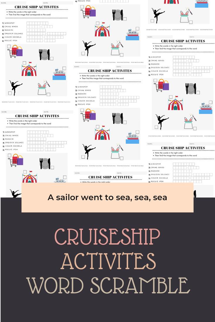 Cruise Ship Activities Worksheet Cruise Ship Cruise Activities [ 1102 x 735 Pixel ]