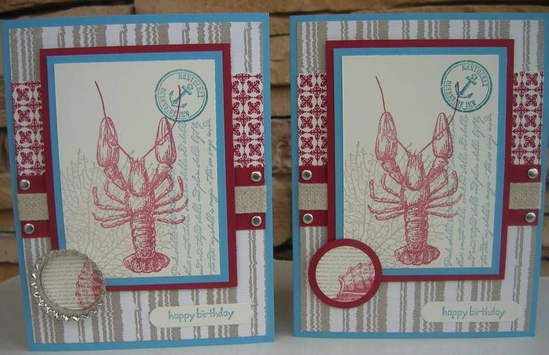 By the tide lobster by calmag cards and paper crafts at