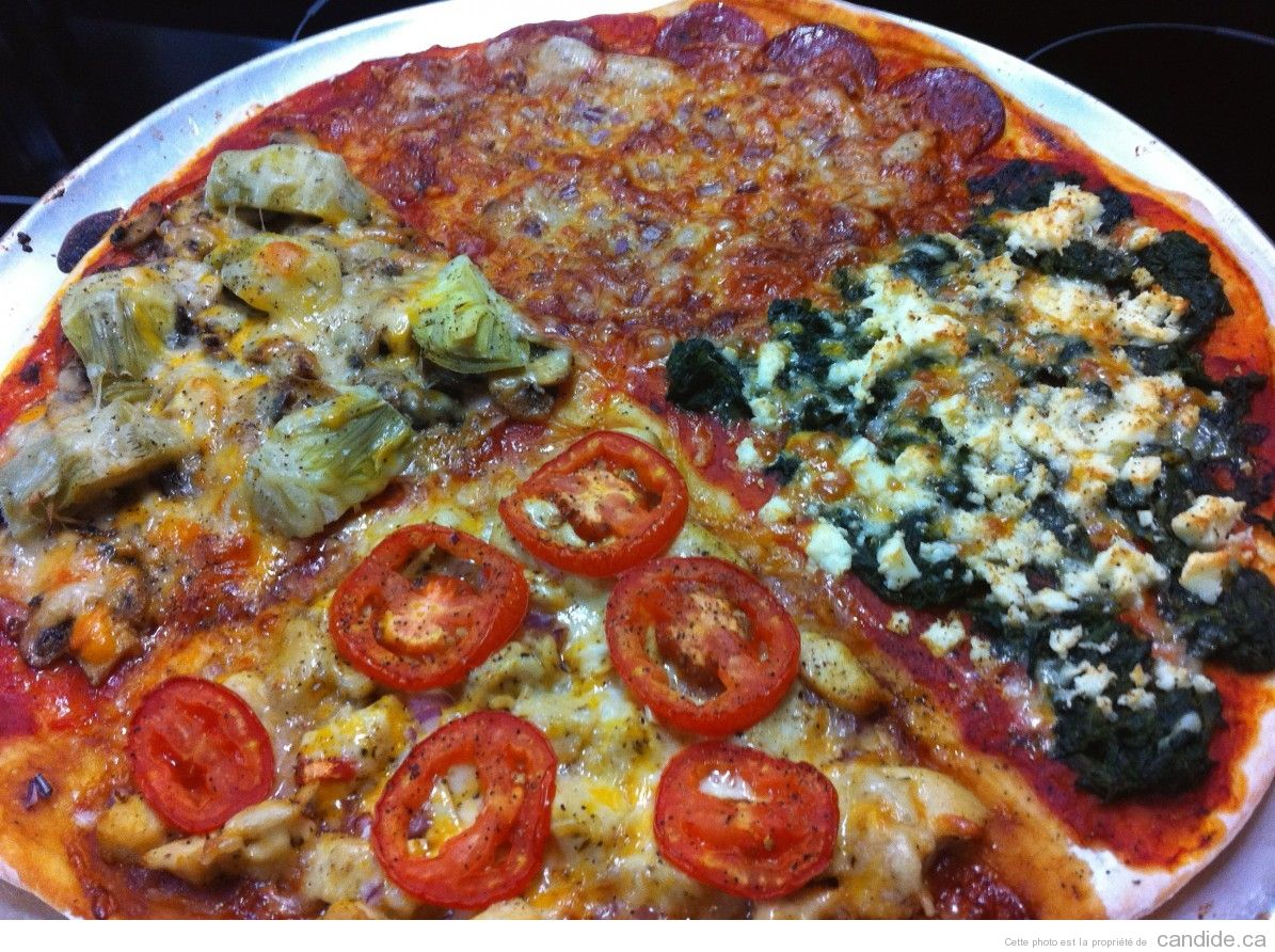 Pizza quatre saisons, mais en février   Recept
