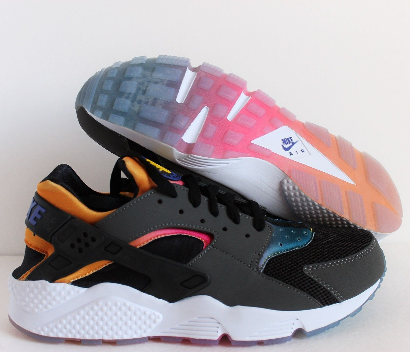 5473d838525d NIKE AIR HUARACHE RUN SD BLACK-VIOLET-TOUR YELLOW-PINK POW SZ 10.5  724764- 005
