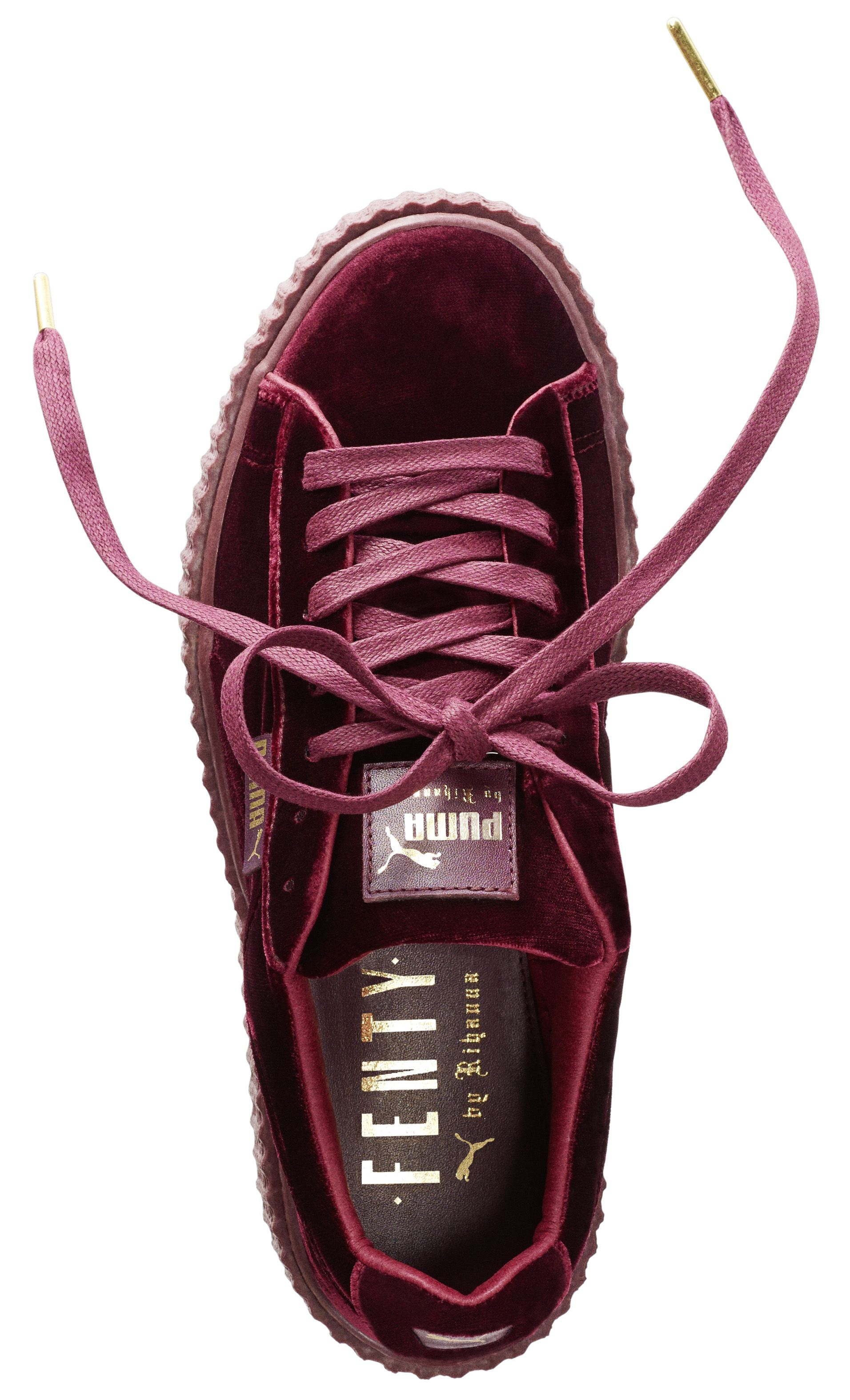 puma creepers rouge velours