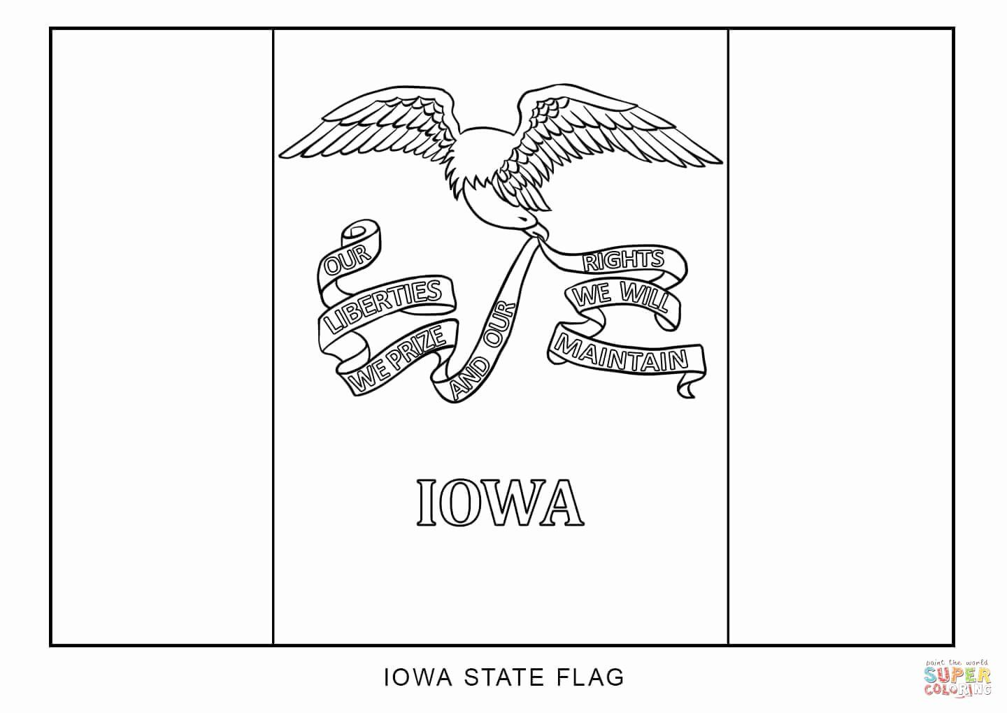 Iowa State Flag Coloring Page In 2020 Flag Coloring Pages