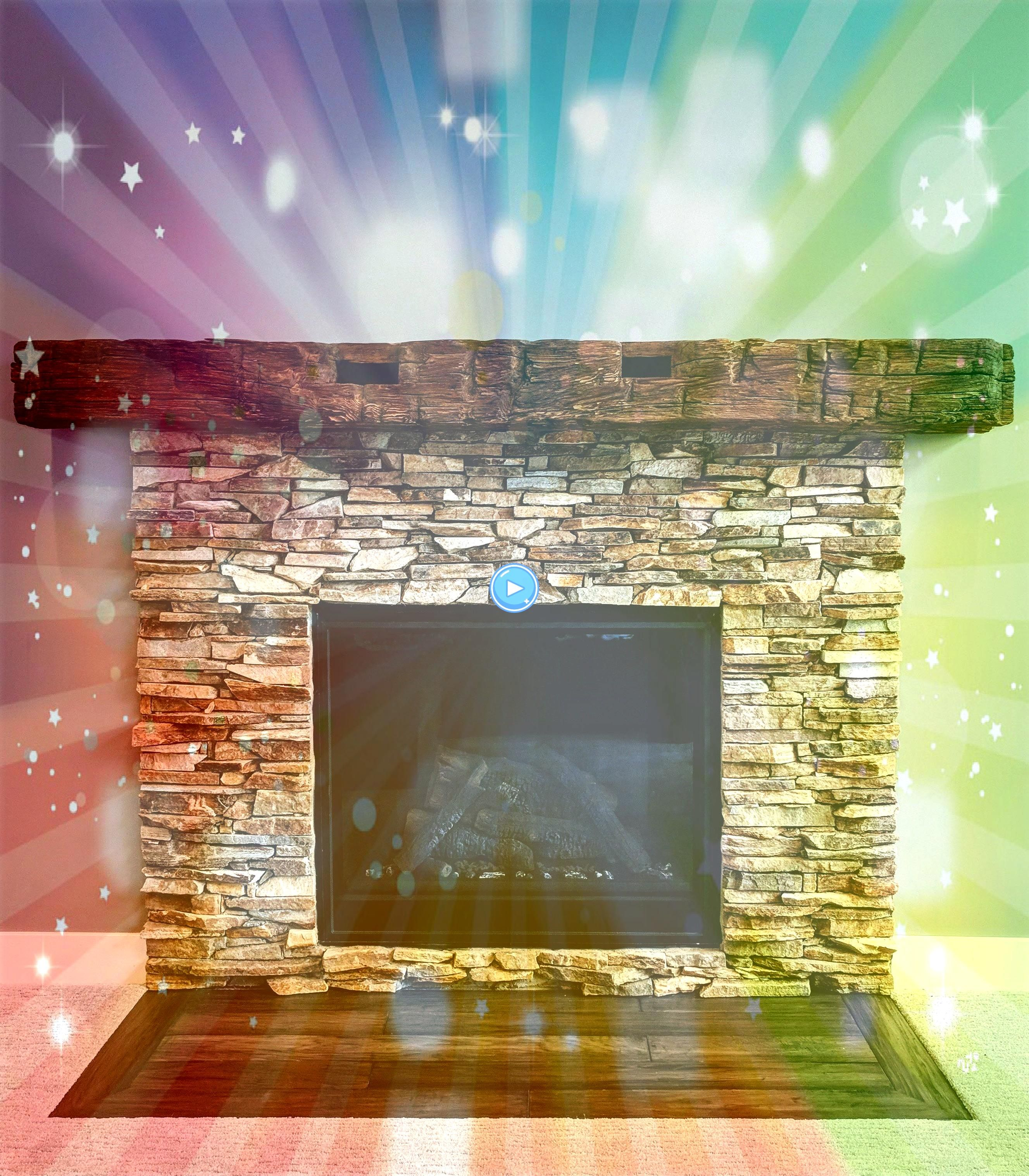Photographs Stone Fireplace surround Ideas This interior stone fireplace is a beautiful example of a stacked stone fireplace surround using BuExcellent Photographs Stone...
