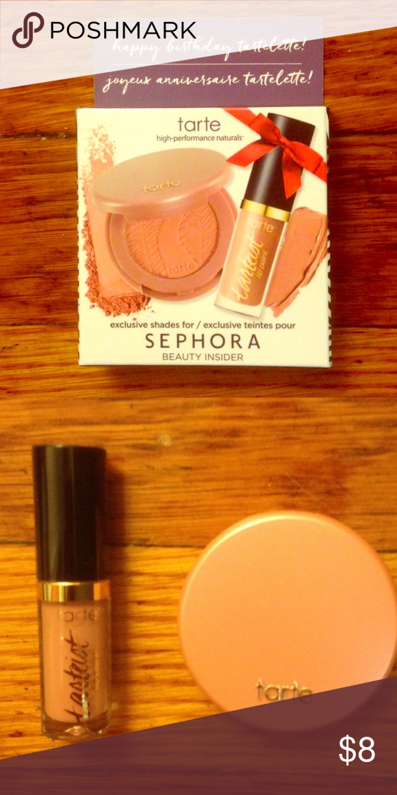 Sephora Gift Tarte Blush And Lip Gloss Set This Is A Birthday Comes With In The Color Paaarty Tarteist Paint Makeup