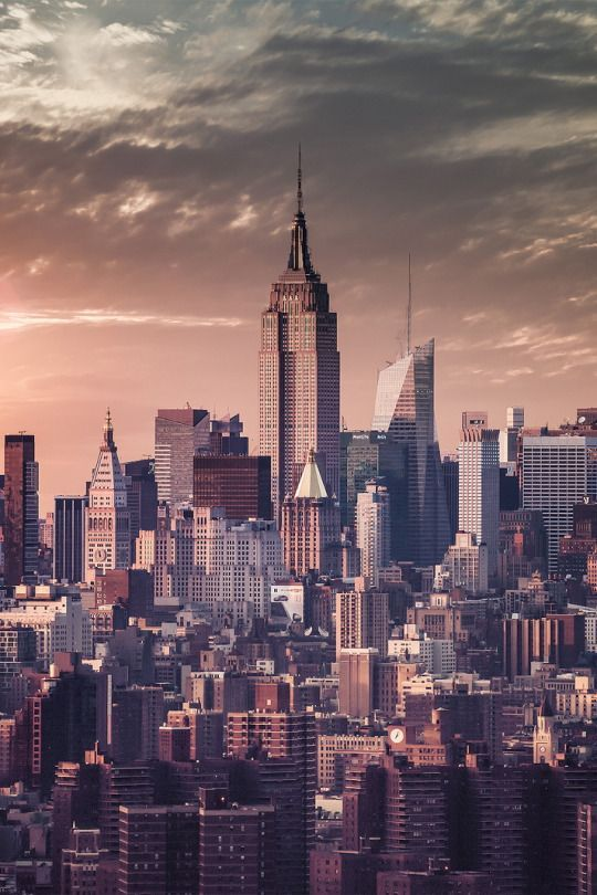 New York City Skyline Manhattan Empire State Fondo De Pantalla