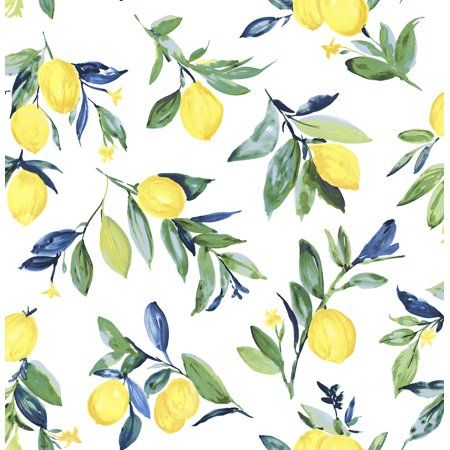 NuWallpaper Lemon Drop Yellow Peel & Stick Wallpaper