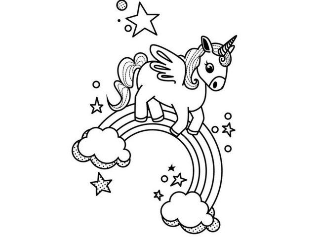 Dibujos De Corazones Coloridos: Imágenes De Unicornios Para Descargar Listas Para Imprimir