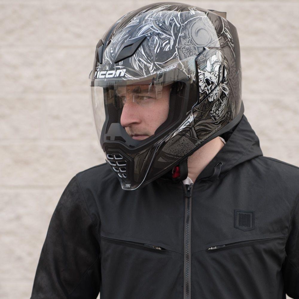 Icon Airflite Krom Helmet Black Motosports Biker Style Circuits Imprims Leds Pour Mon Casque Iron Man Youtube