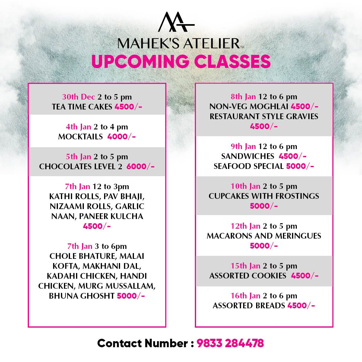 Our Upcoming Classes Book Your Seat And Be The Master Of