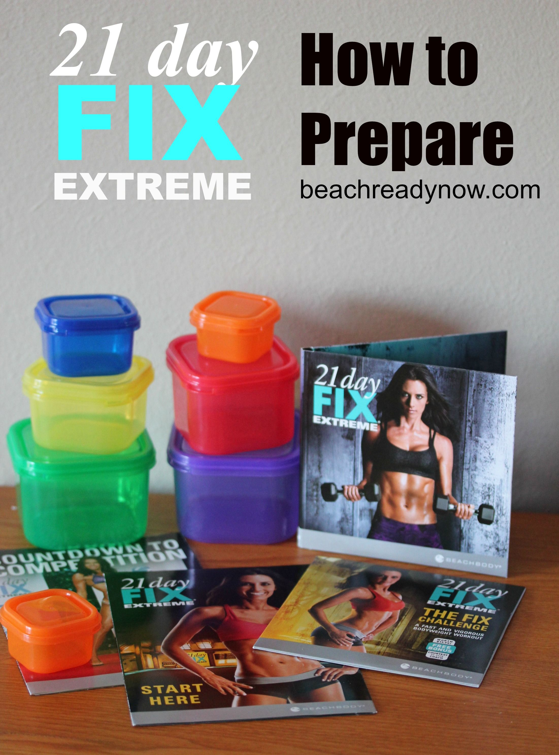 21 Day Fix Extreme: How to Prepare