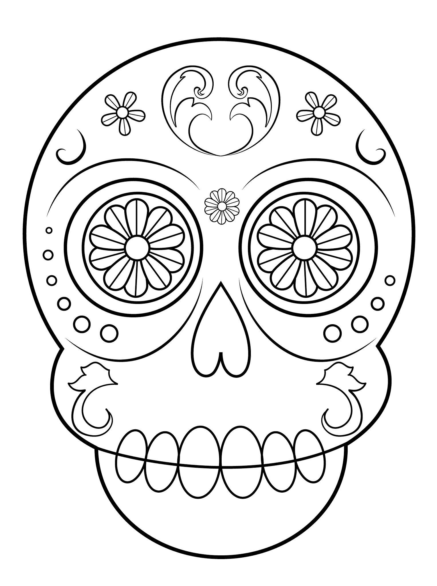 Sugar Skull Worksheet
