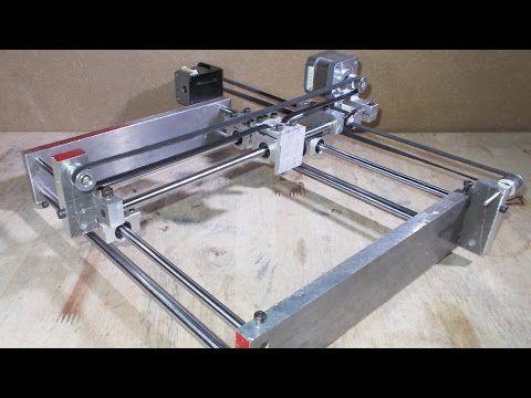 Homemade Mini Engraving Laser DIY X Y Aluminium Frame