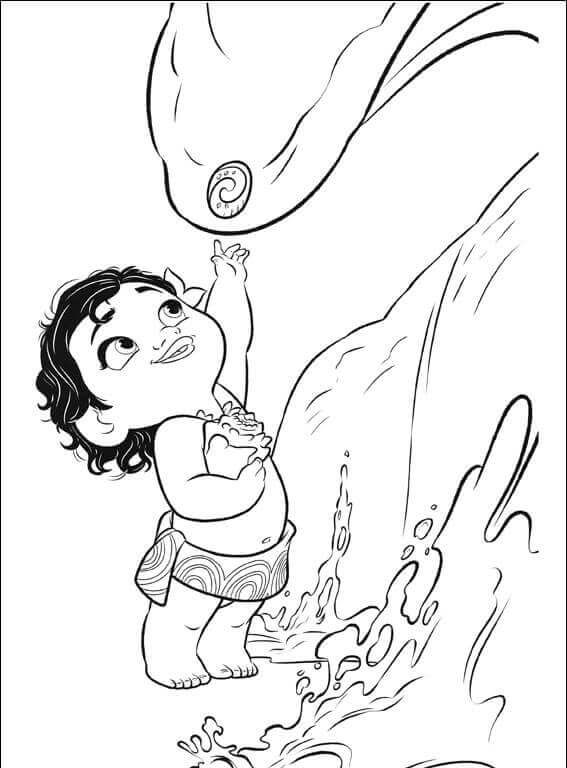 Moana With Heart Of Te Fiti Moana Coloring Pages Moana Coloring Pages Disney Coloring Pages Moana Coloring