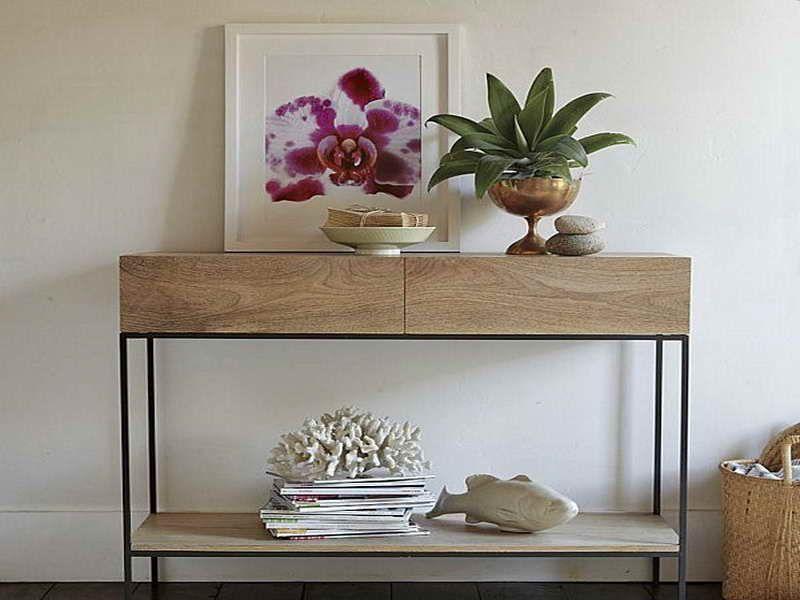 Retro Modern Console Table Ikea Console Cuisine Mobilier De Salon Table Extensible Bois