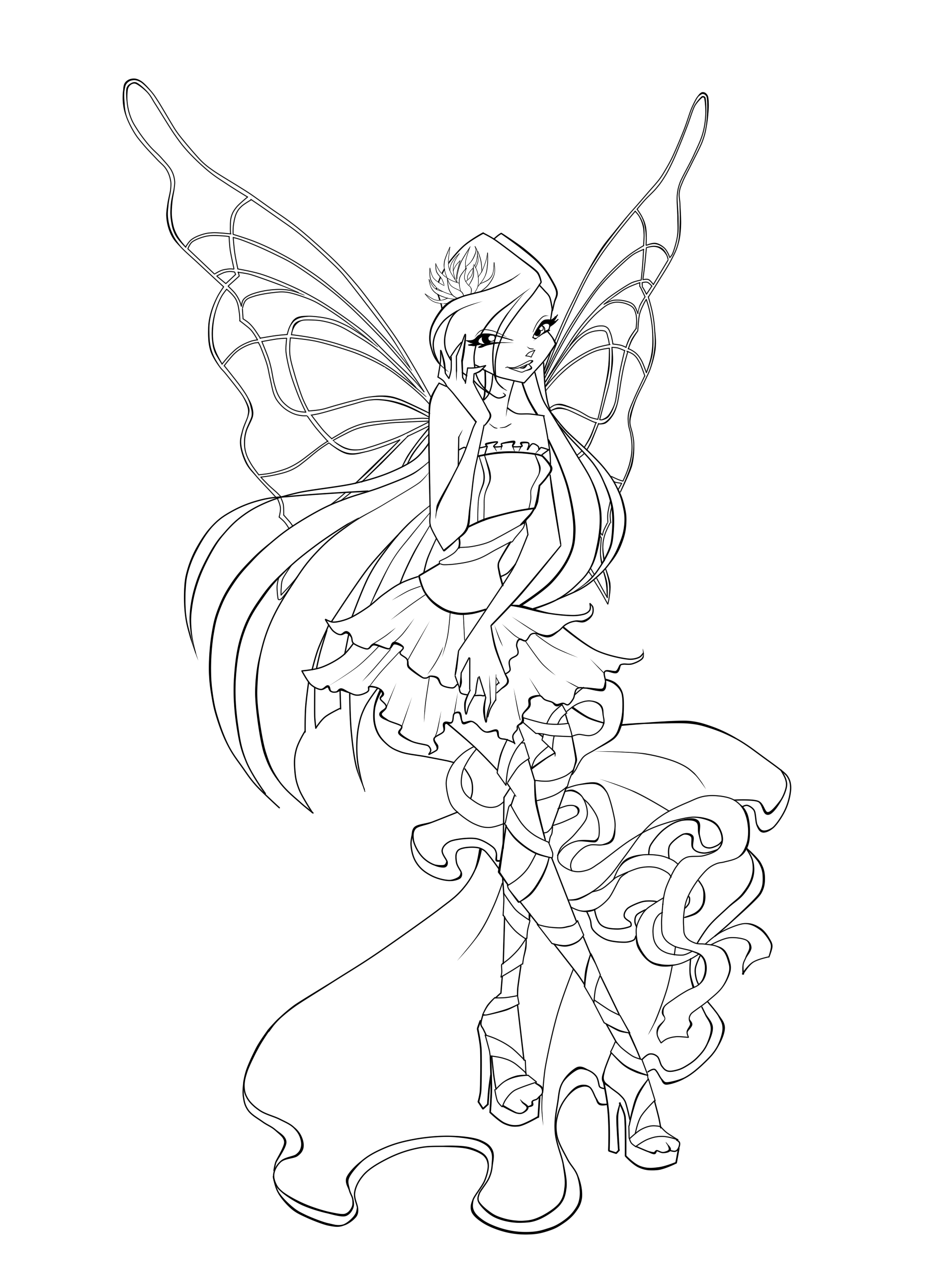 Winx Sirenix Coloring Pages Fairy Coloring Pages Coloring Pages Disney Coloring Pages