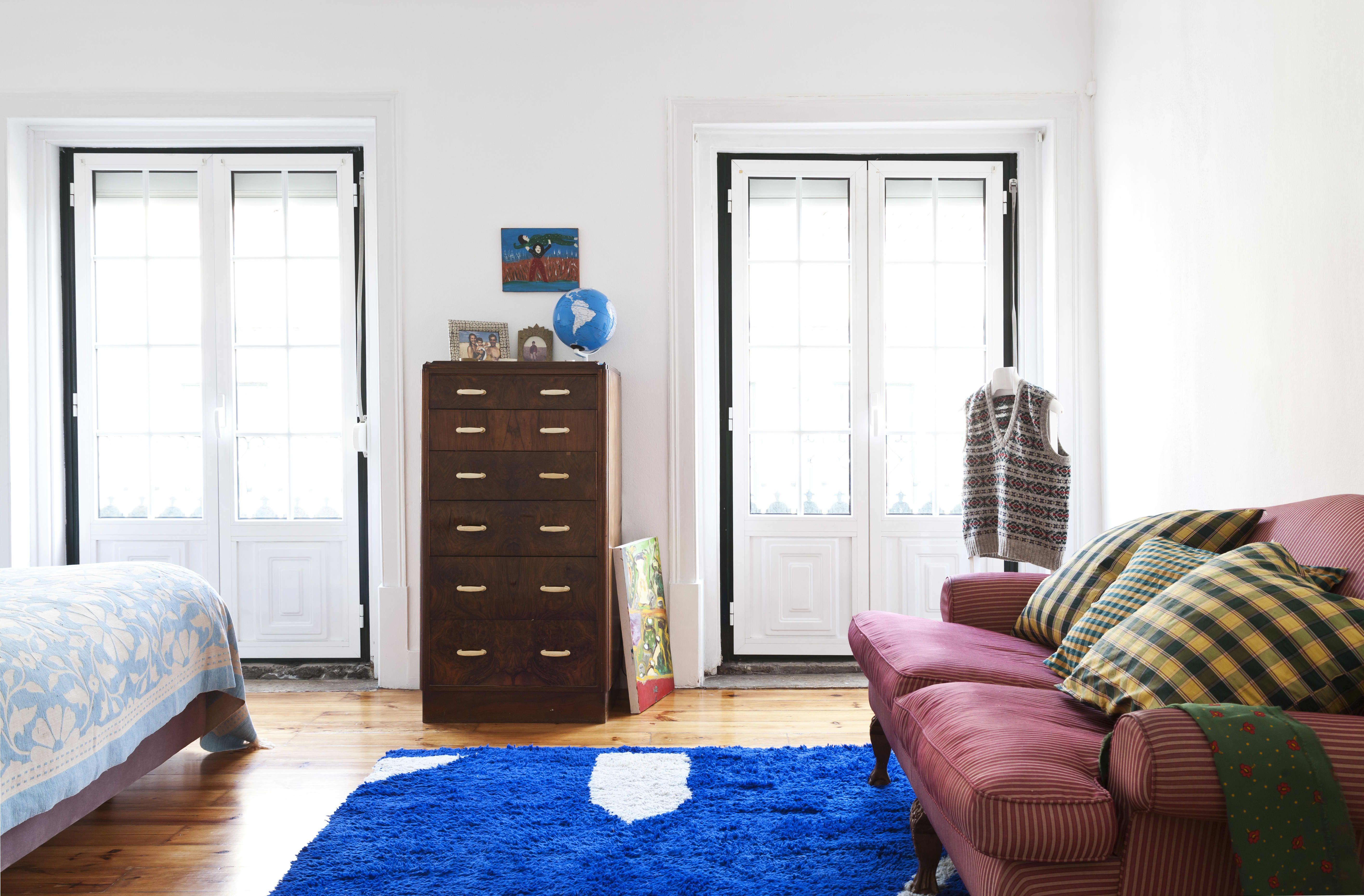 A Portuguese Rental Home Is Effortlessly Elegant Living Room Sofa Home Bedroom Carpet