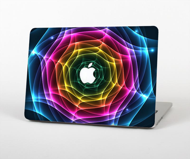 The Rainbow Neon Translucent Vortex Skin Set for the Apple