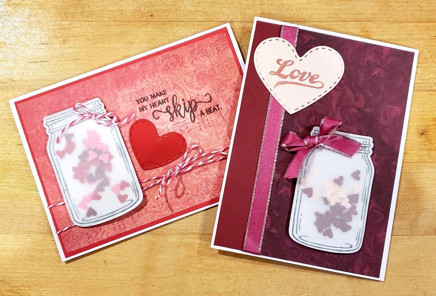 stampin up jar of love  card making stampin up cards