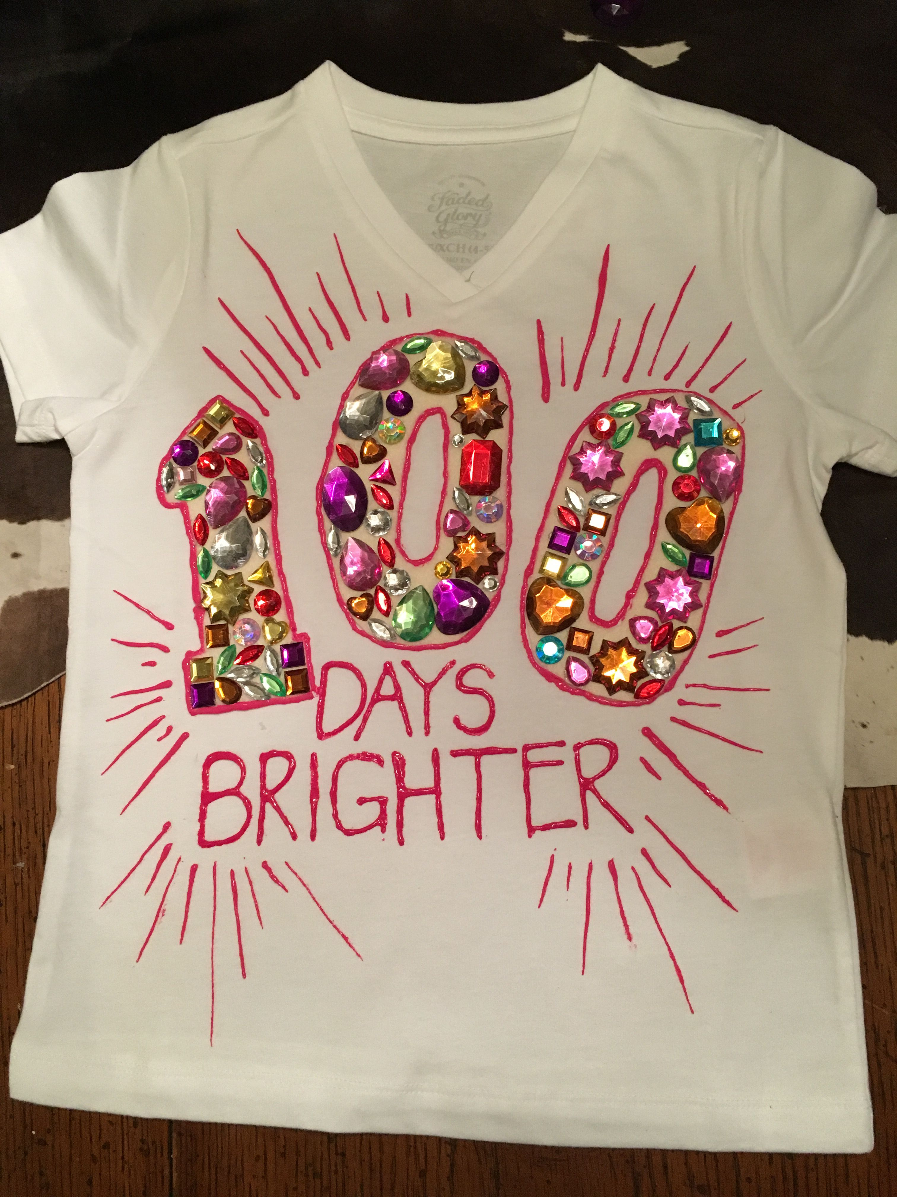 100 Days Of School T Shirt Project For Emma S Preschool With