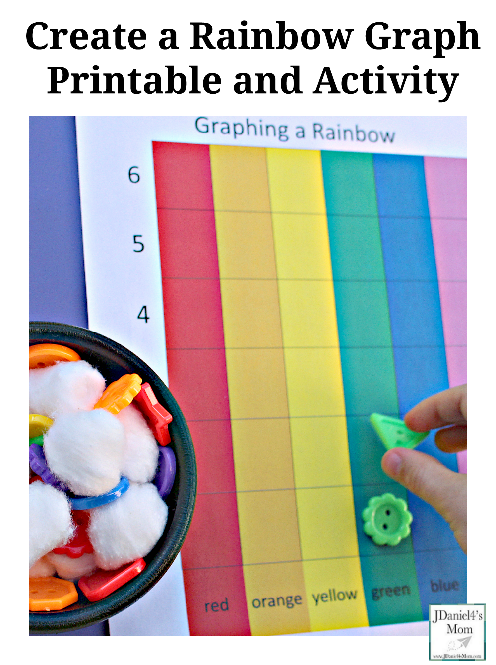 Create a Rainbow Graph Printable and Activity- Your children at home ...