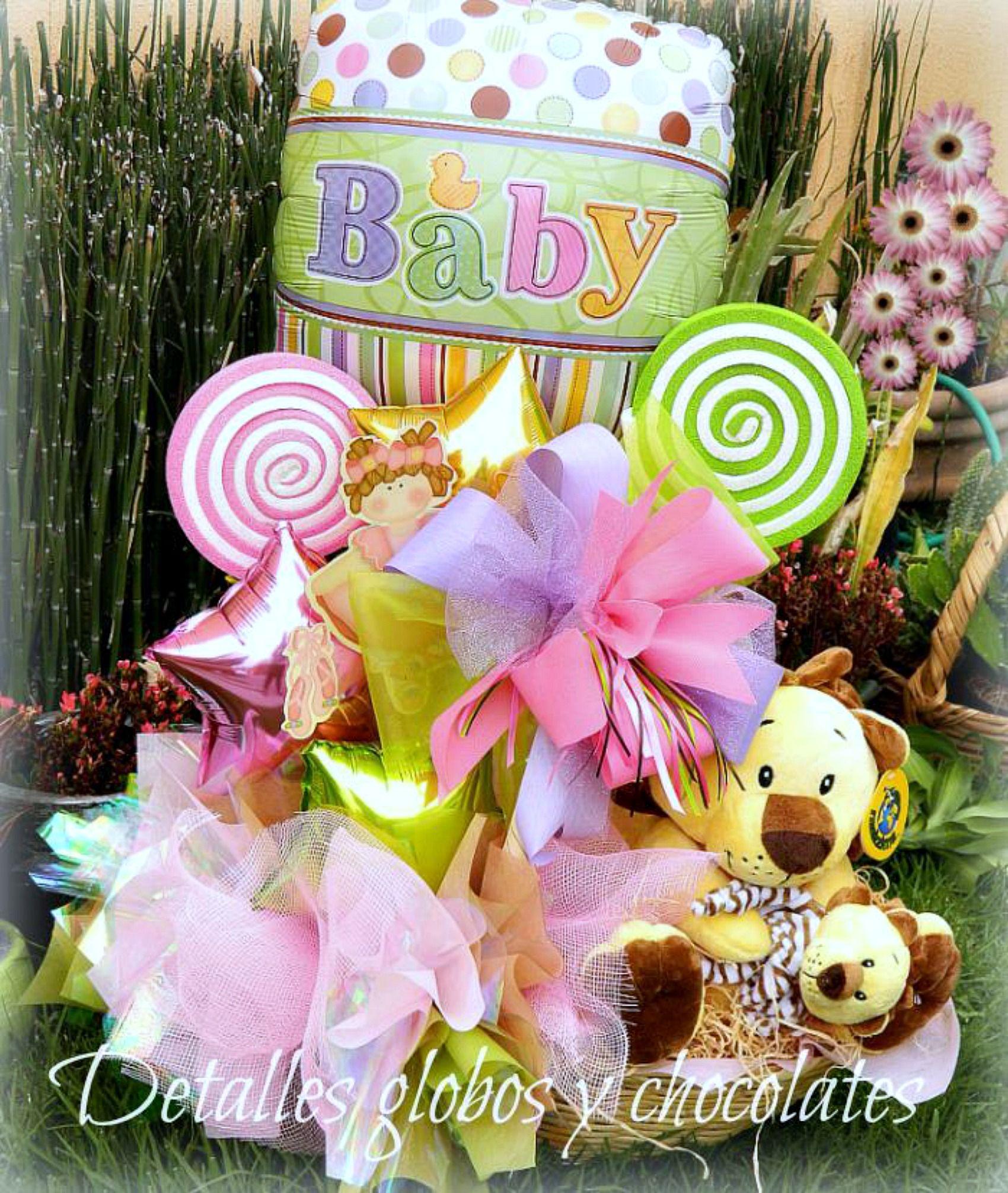 Adornos Para Mesa De Regalos De Baby Shower.Baby Shower Detalles Globos Y Chocolates Ramo De