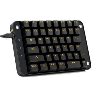 Review Koolertron Cherry Mx Black Programmable Gaming Keypad Mechanical Gaming Keyboard With 43 Programmable Keys Single Handed Keypad Macro Setting Golden