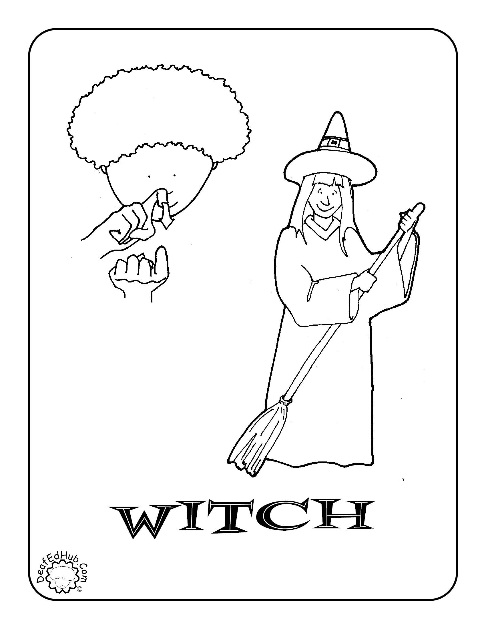 Coloring Pages Asl Coloring Pages asl coloring page for the sign horse i just posted 19 more witch page