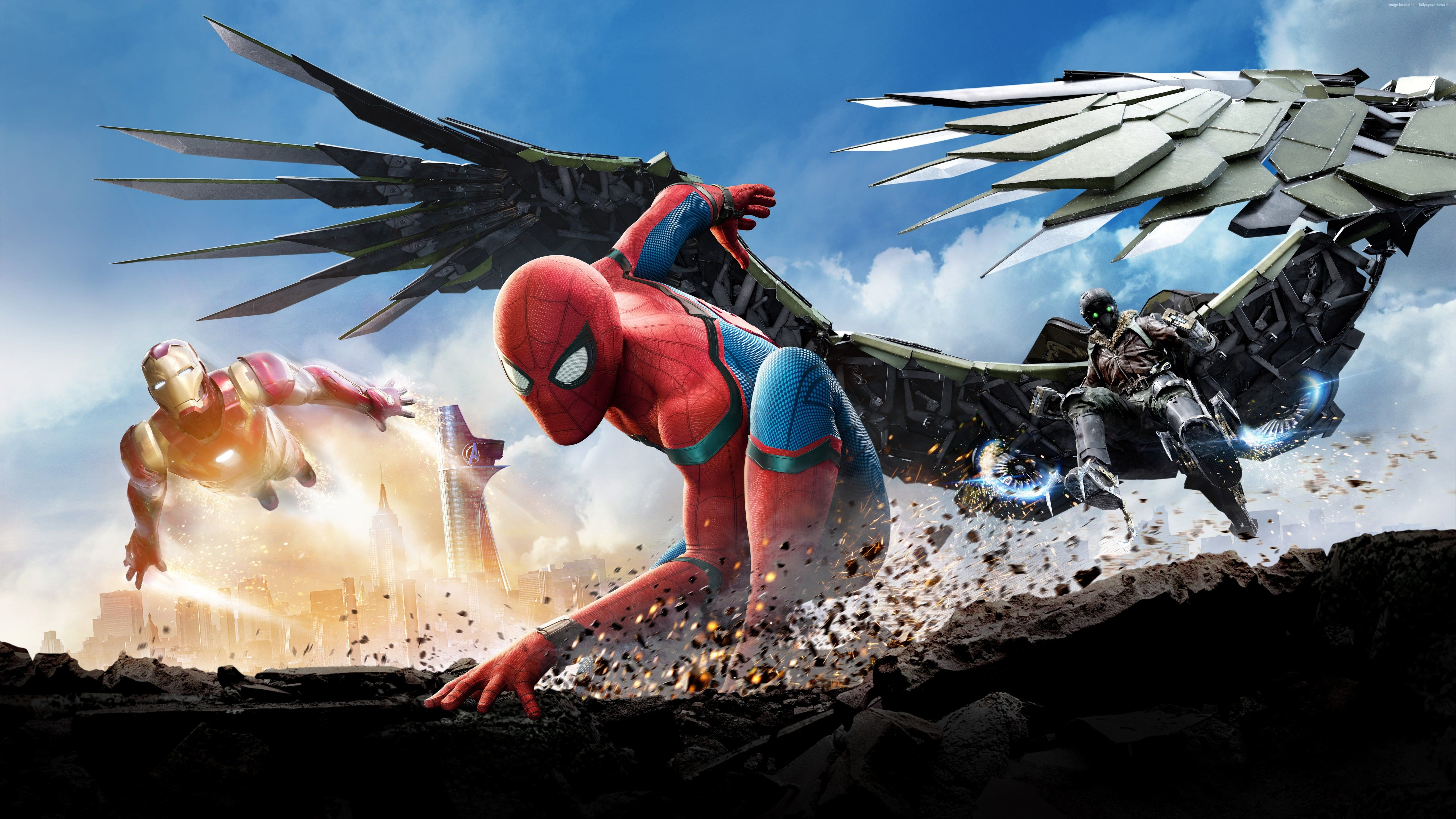 Marvel Spider Man Iron Man And Falcon Wallpaper Spider Man Iron Man Superhero Spider Man Homecomi In 2020 Spiderman Homecoming Spider Man Homecoming 2017 Spiderman
