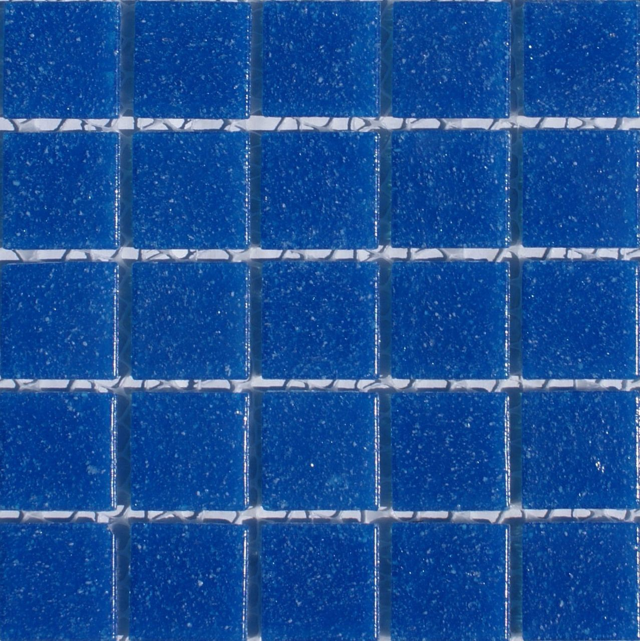 Classic Glass Series - Deep Blue 3/4x3/4-in Mesh Mount Mosaic - On ...